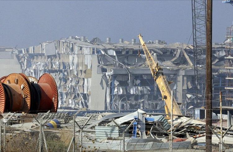 tsalakides the damage at the power station next to Mari 770x504
